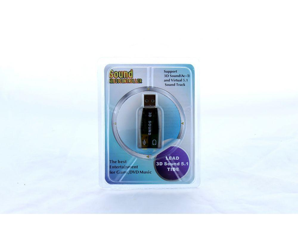 Sound audiocontroller \ Звуковая карта USB 3D sound 5.1, Звуковая карта адаптер юсб, Компактная звуковая карта