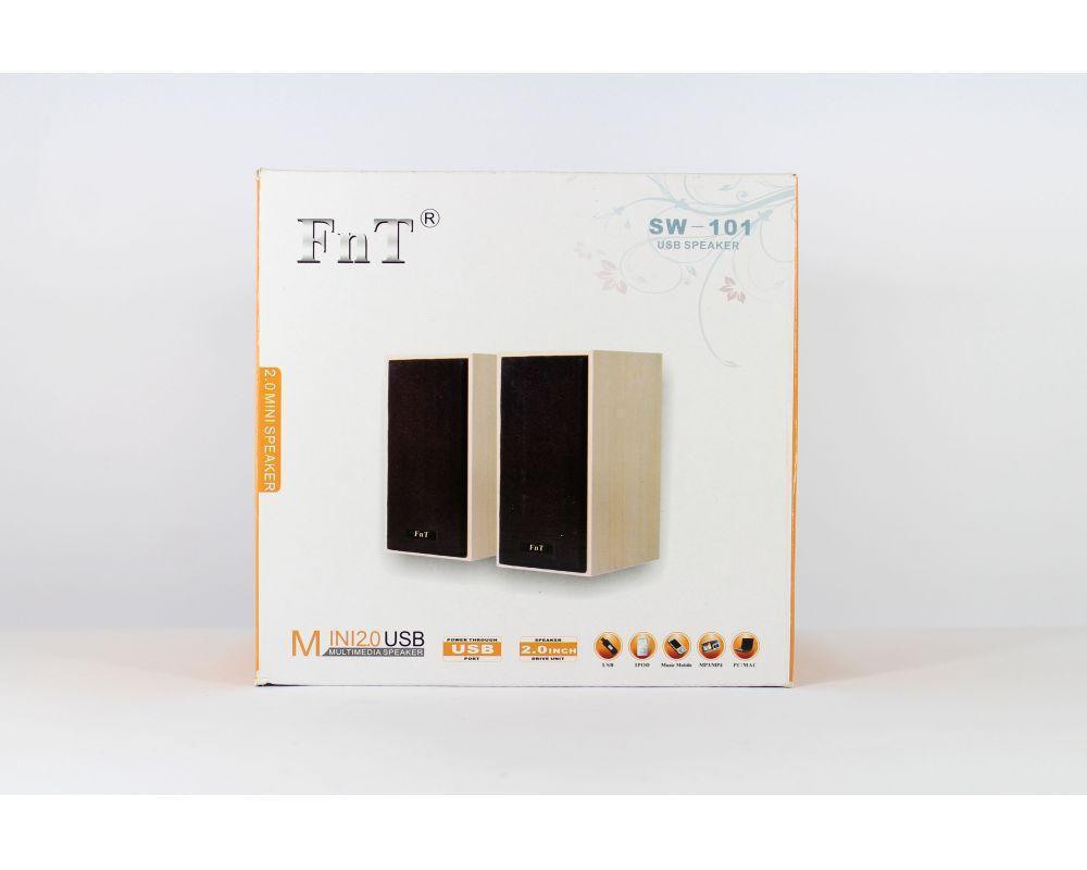 Колонки для ПК FnT-101, Колонки для ПК компьютера, Колонки с усилителем компьютерные, Деревянные колонки