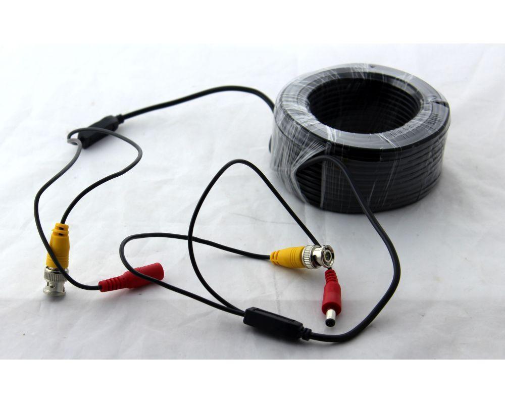 Кабель для камеры 20m метров, Коаксиальный кабель, Кабель соединения видеокамеры с видеорегистратором