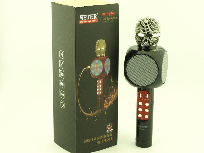 Микрофон DM Karaoke 1816 + чехол, Микрофон с функцией караоке, Портативный микрофон, Беспроводной микрофон