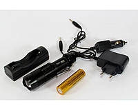 Фонарик BL 1812-T6, Тактический фонарик полицейский, Светодиодный фонарик, Компактный ручной фонарик, фото 1