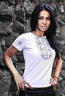 Жіноча футболка Мережка сіра
