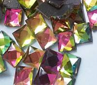 Стразы термоклеевые, Квадрат 8*8 мм, Rainbow (радужный), фото 1