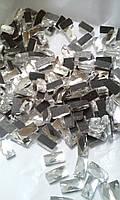 Стразы термоклеевые, прямоугольник 5х10 мм, Crystal (кристалл)