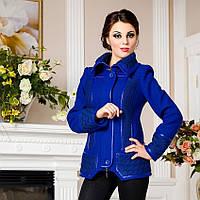 Демисезонная куртка из итальянской шерсти F 734734 Синий