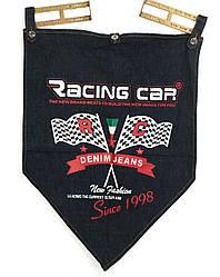 Джинсовый рекламный флажок с логотипом Rasing Car