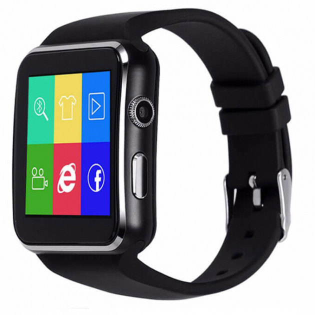 Часы Smart watch X6, Смарт-часы, Умные часы, Часы с сим картой, Часы телефон, Блютуз часы, Часы сенсорные, фото 1