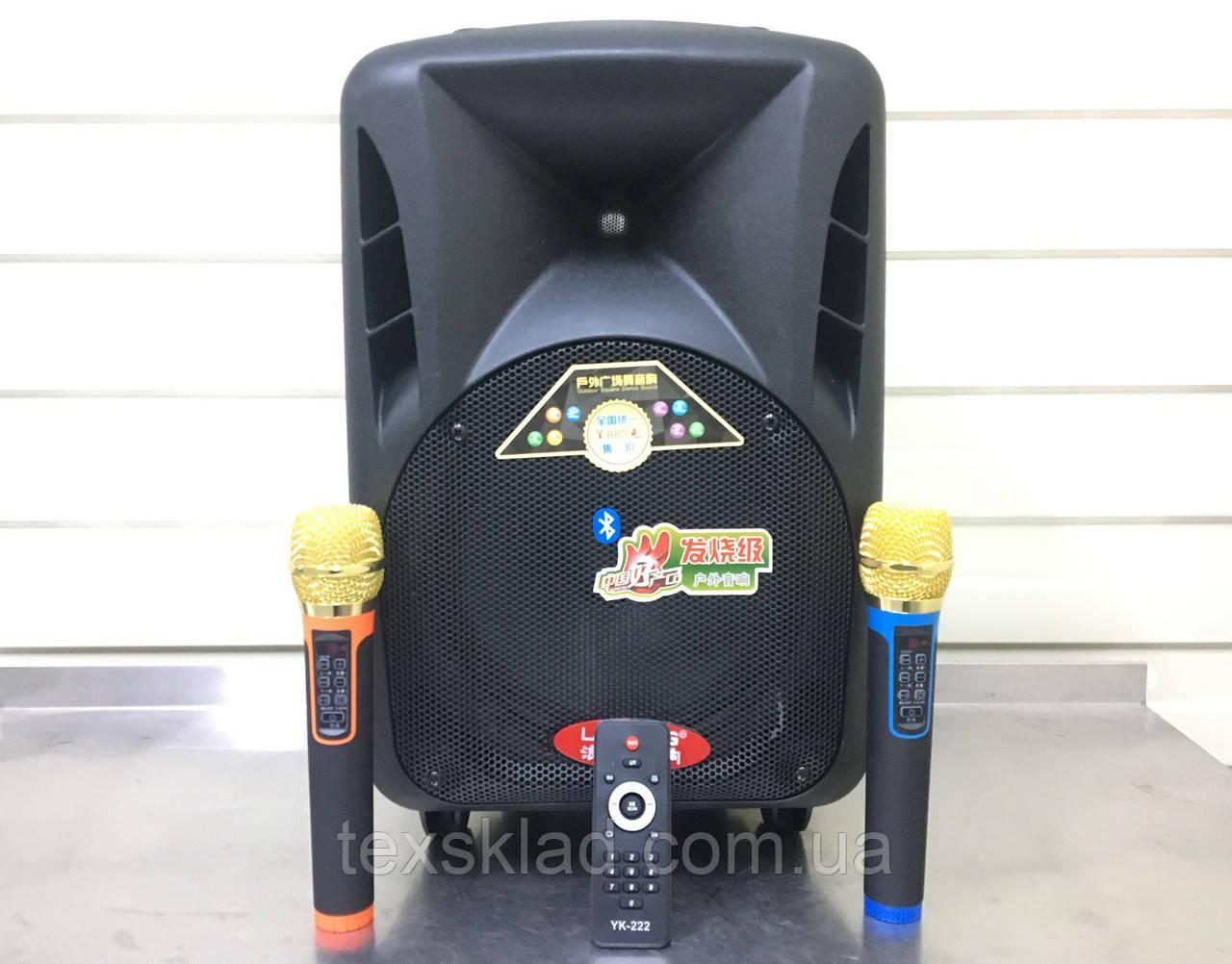 Портативная колонка с Аккумуляторными микрофонами Langting SL1007 (120W/USB/Bt/Fm)