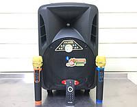 Портативная колонка с Аккумуляторными микрофонами Langting SL1007 (120W/USB/Bt/Fm), фото 1