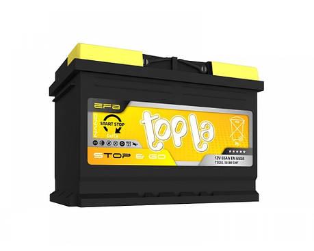 Topla Start-Stop EFB Euro 6СТ-65 Автомобильный аккумулятор, фото 2