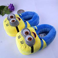 Тапочки игрушки плюшевые миньены