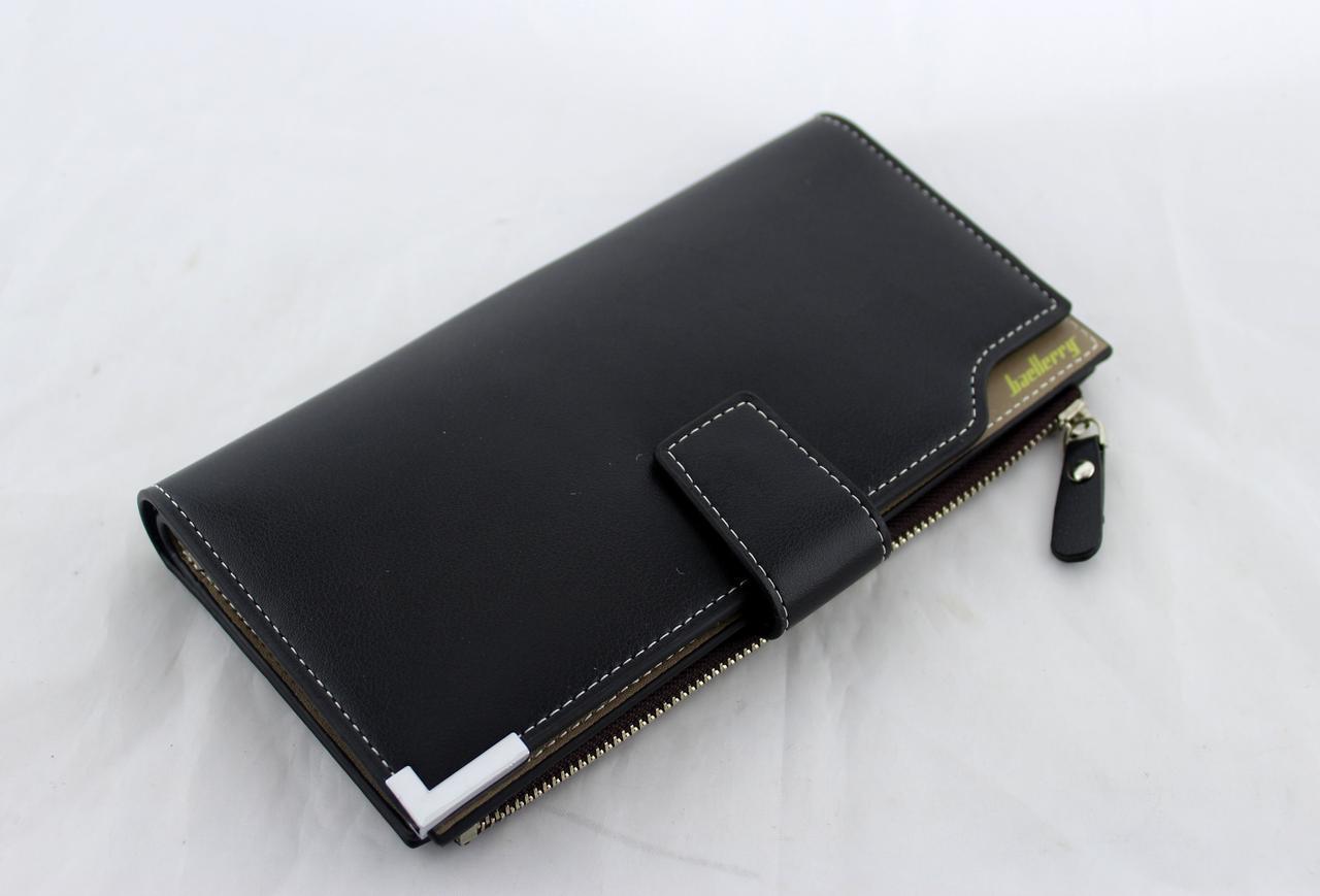 Кошелек Baellerry C1283 BLACK, Портмоне мужское, Кошелек мужской, Кошелек клатч, Бумажник для мужчины