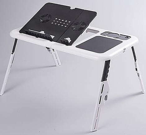 Столик LD 09 E-TABLE, Многофункциональный столик для ноутбука, Столик кулер, Подставка с охлаждением