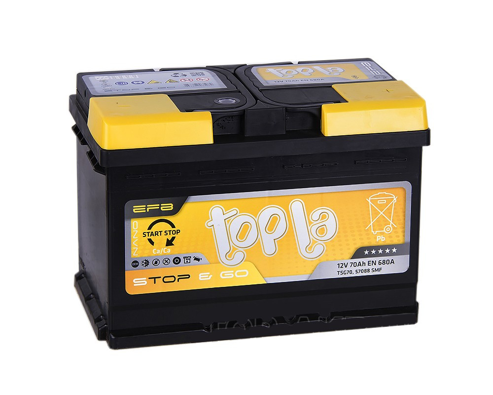Topla Start-Stop EFB Euro 6СТ-70 Автомобильный аккумулятор