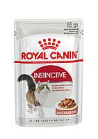 Консервы Royal Canin Instinctive в соусе, для кошек старше 1 года, упаковка 12шт х85г