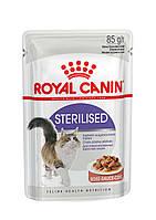 Консервы Royal Canin Sterilised (в соусе), для стерилизованных кошек, упаковка 12шт х85г