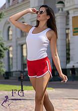 """Короткие женские шорты """"Joy"""" красный, 44"""