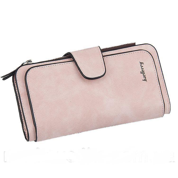 Кошелек Baellerry N2345 PINK, Женский кошелек клатч, Замшевый кошелек портмоне женское, Кошелек для девушки, фото 1