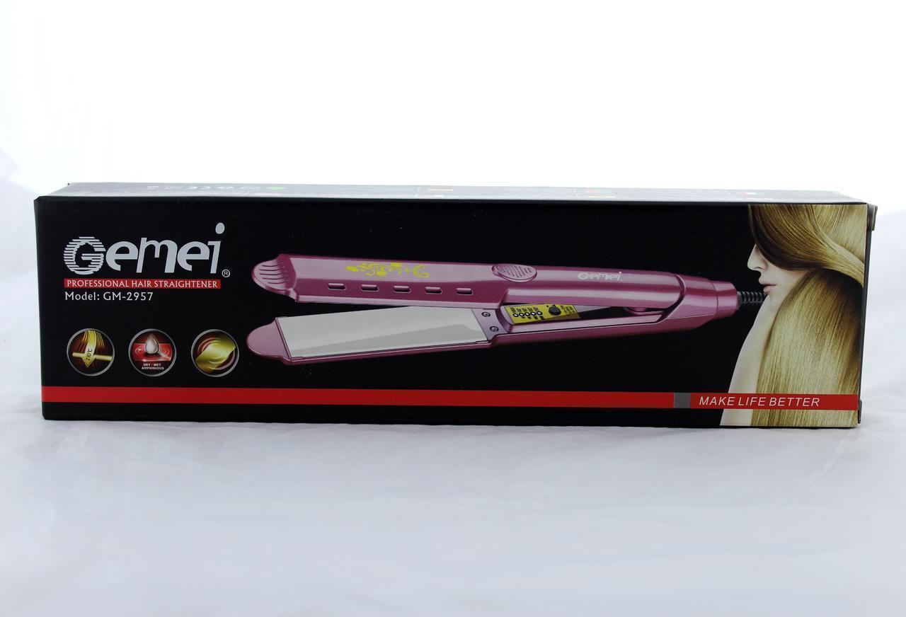 Утюжок GM 2957, Утюжок для волос выпрямитель, Стайлер для волос, Прибор для выпрямления волос, Выпрямитель