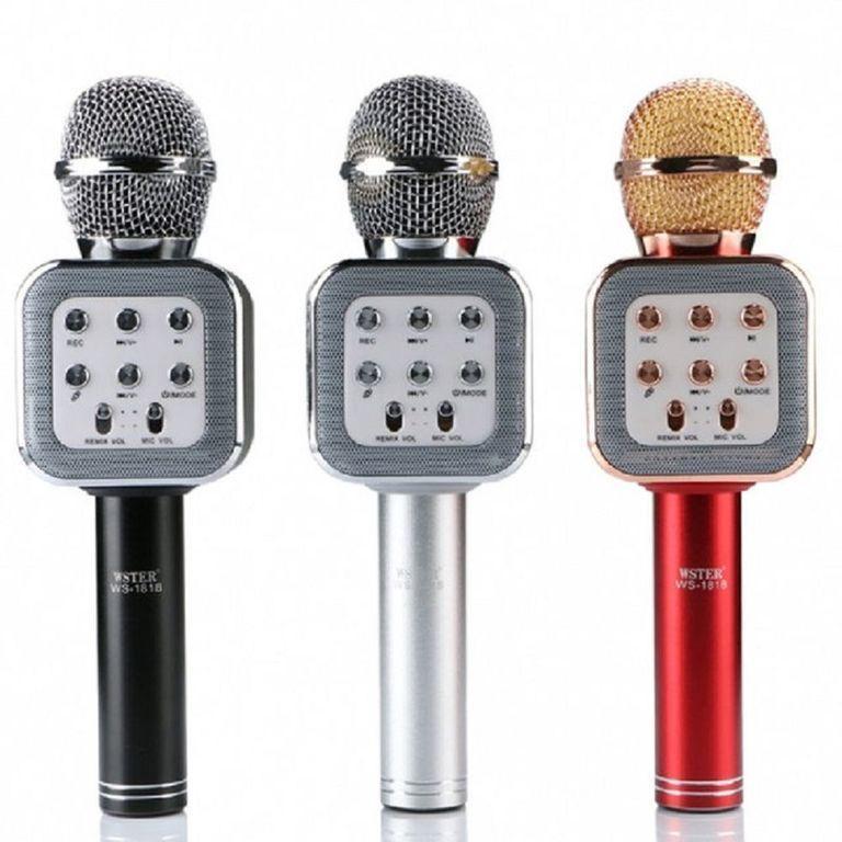 Микрофон DM Karaoke WS1818, Беспроводной микрофон с динамиком, Караоке микрофон, Микрофон колонка динамик