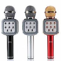 Микрофон DM Karaoke WS1818, Беспроводной микрофон с динамиком, Караоке микрофон, Микрофон колонка динамик, фото 1