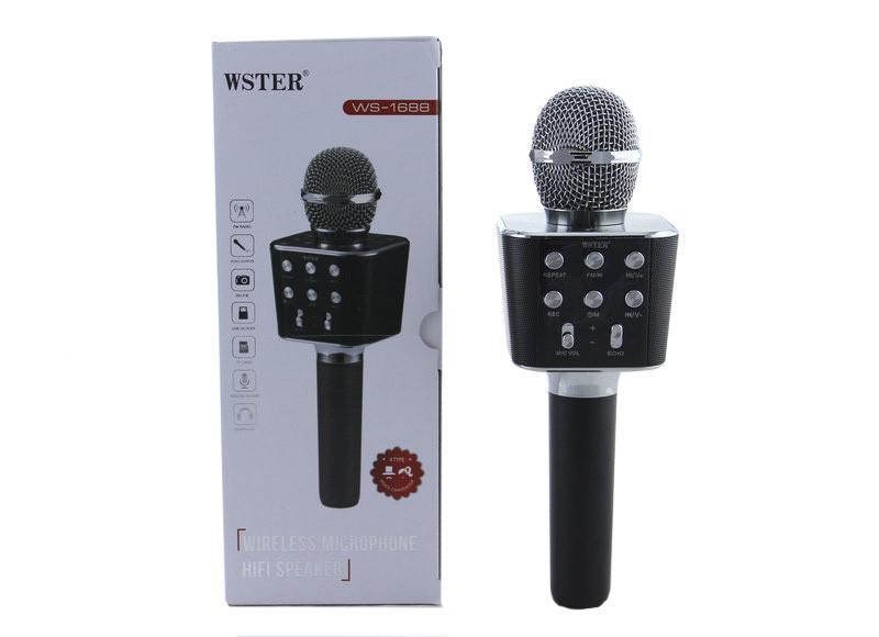 Микрофон DM Karaoke WS1688 BT, Блютуз микрофон, Аккумуляторный микрофон, Микрофон для караоке с Bluetooth
