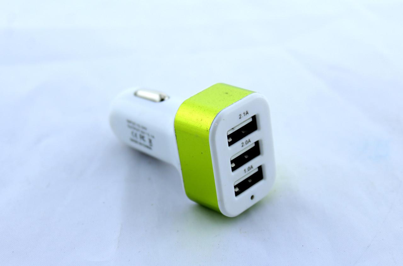 Адаптер CAR USB 3 USB AR 29, Адаптер для машины, Универсальный usb адаптер, Автомобильное зарядное устройство