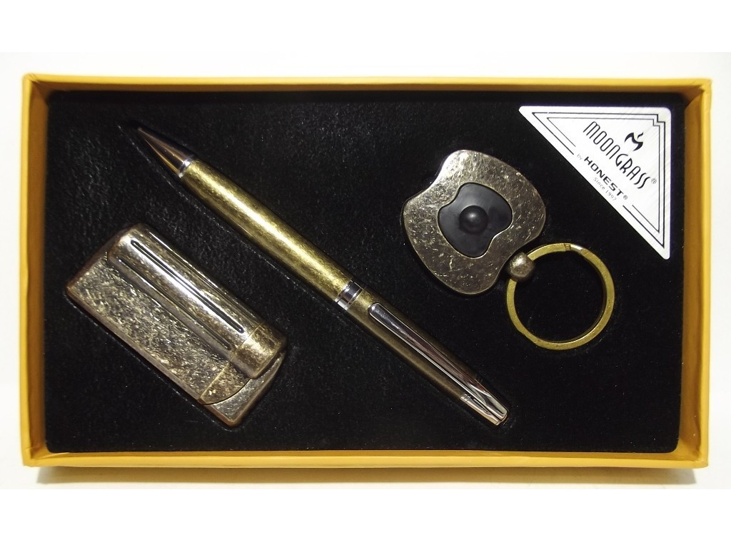 MTC-103 Подарочный набор ручка брелок зажигалка Мужской подарочный набор ручка брелок зажигалка