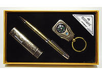 MTC-97 Подарочный набор  ручка брелок зажигалка Мужской подарок ручка брелок зажигалка