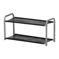 """IKEA """"ЛУСТИФИК"""" Полка для головных уборов/обуви, серебристый/черный"""