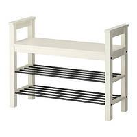 "IKEA ""ХЕМНЭС"" Скамья с полкой для обуви, белый"