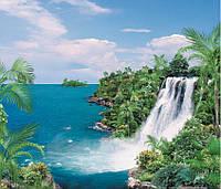 Фотообои на бумажной основе Арт-Декор 201 см*242 см Водопад