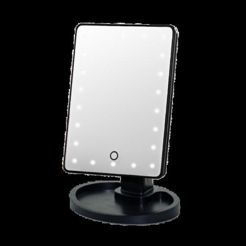 "Зеркало для макияжа с подсветкой ""Large LED Mirror"" черное"