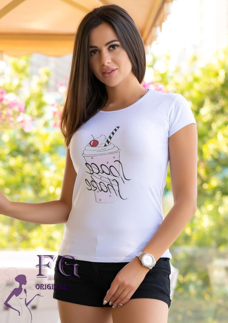 "Белая футболка с принтом ""Ice Cream"", фото 1"