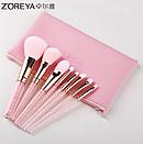 Набор кистей Zoreya Rose gold 8 штук (розовый чехол), фото 2