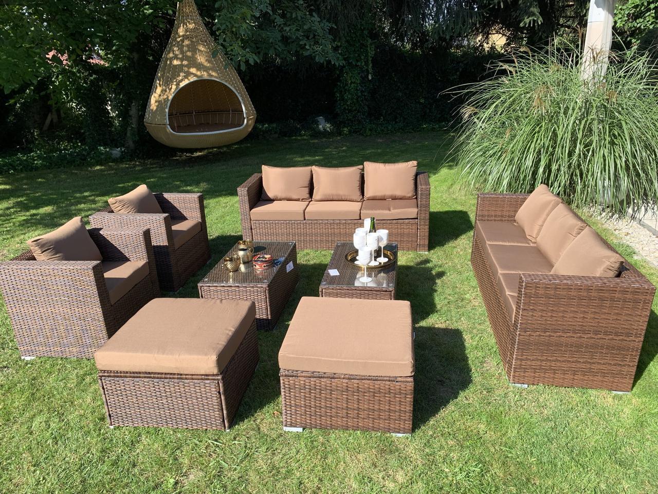 Елегантный комплект мебели из ротанга Borneo XXL!