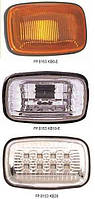 Указатель поворота на крыле Toyota Land Cruiser 100 '98-07 левый и правый, белый (прозрачный) (DEPO)