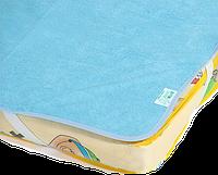 Непромокаемый наматрасник - поверхность «Непромокайка Classic ЭКО ПУПС», 60х120, Голубой