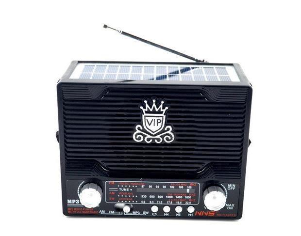 Радио NS 1556 + solar, Радиоприемник, 3-х волновой радиоприёмник-колонка на солнечных батареях, Радиоколонка