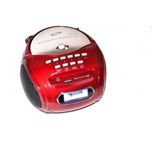 Радио RX 186,  Радио-приемник, Радио колонка MP3 USB, Радио с MP3, Колонка бумбокс, Портативная колонка