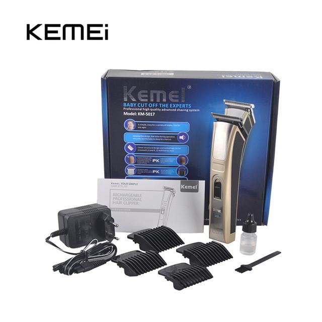 Бритва KM5017, Универсальная машинка для стрижки, Тример для бороды, усов, Аккумуляторная машинка для стрижки
