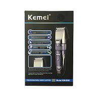 Бритва KM8066, Машинка для стрижки волос, Дорожная машинка для стрижки от аккумулятора, Машинка с насадками, фото 1