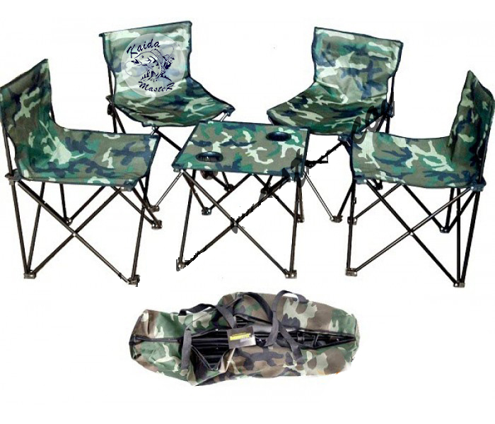 Набор туристической мебели стол + 4 стула, Кемпинговая мебель, Стол и стулья на природу, Складная мебель