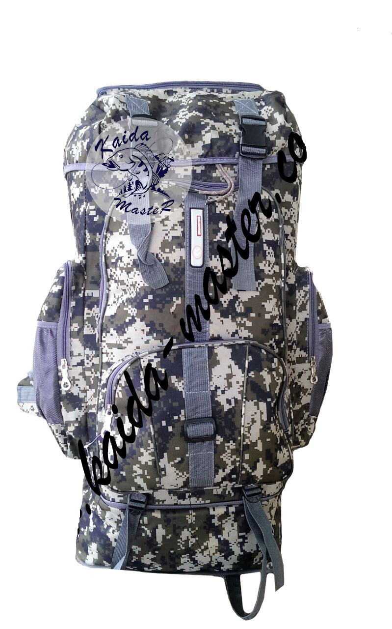 Рюкзак Kaida 90л, Вместительный рюкзак, Брезентовый рюкзак, Большой походный рюкзак, Армейский рюкзак