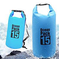 Водонепроницаемый рюкзак Ocean Pack 10 л, Водонепроницаемый мешок для вещей, Влагостойкая сумка-рюкзак, фото 1