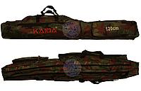 Чехол на две секции Kaida 1,2м, Чехол для рыболовных снастей, Чехол для спиннингов, Чехол для рыбалки