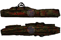 Чехол на две секции Kaida 1,5м, Чехол для удилищ, Полужесткий чехол для удочек, рыболовный чехол