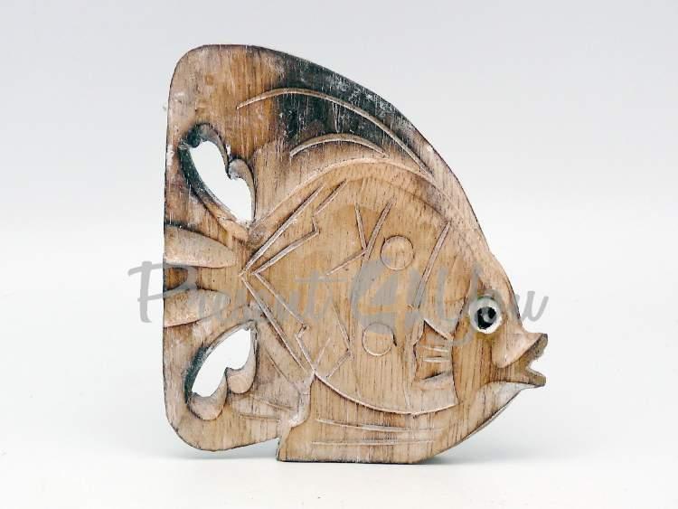 Деревянная статуэтка «Рыбка натуральная», 15 см (32101.3)