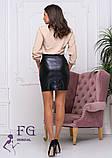 """Кожаная мини юбка """"Santana"""", фото 3"""