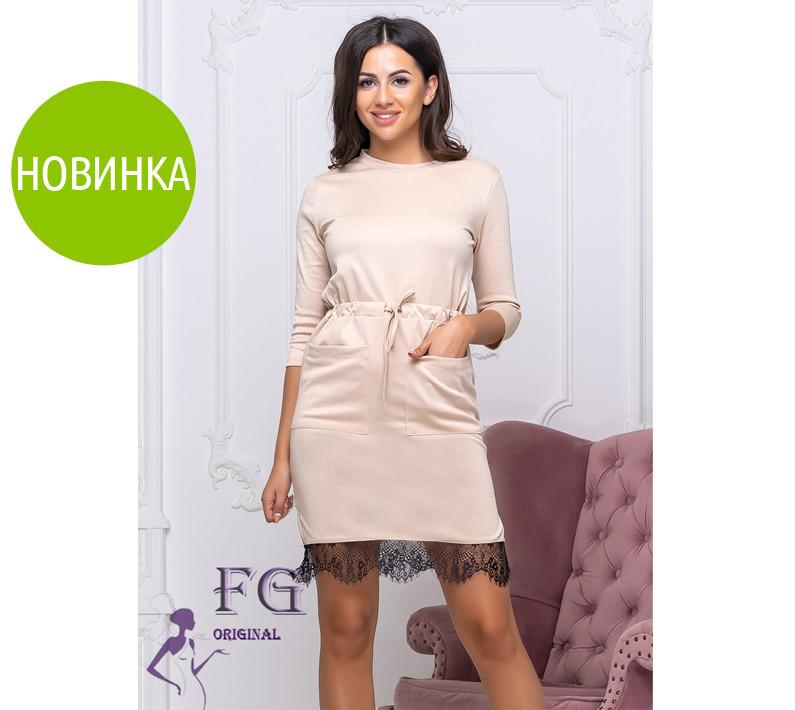 """Трикотажное платье с карманами """"Милена"""", фото 1"""
